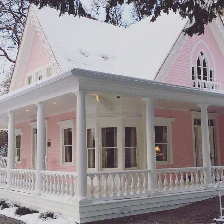 Une Maison Pour Moi Rose, Biensûr!!!   Pink House pertaining to The Cozy Red Cottage 2021