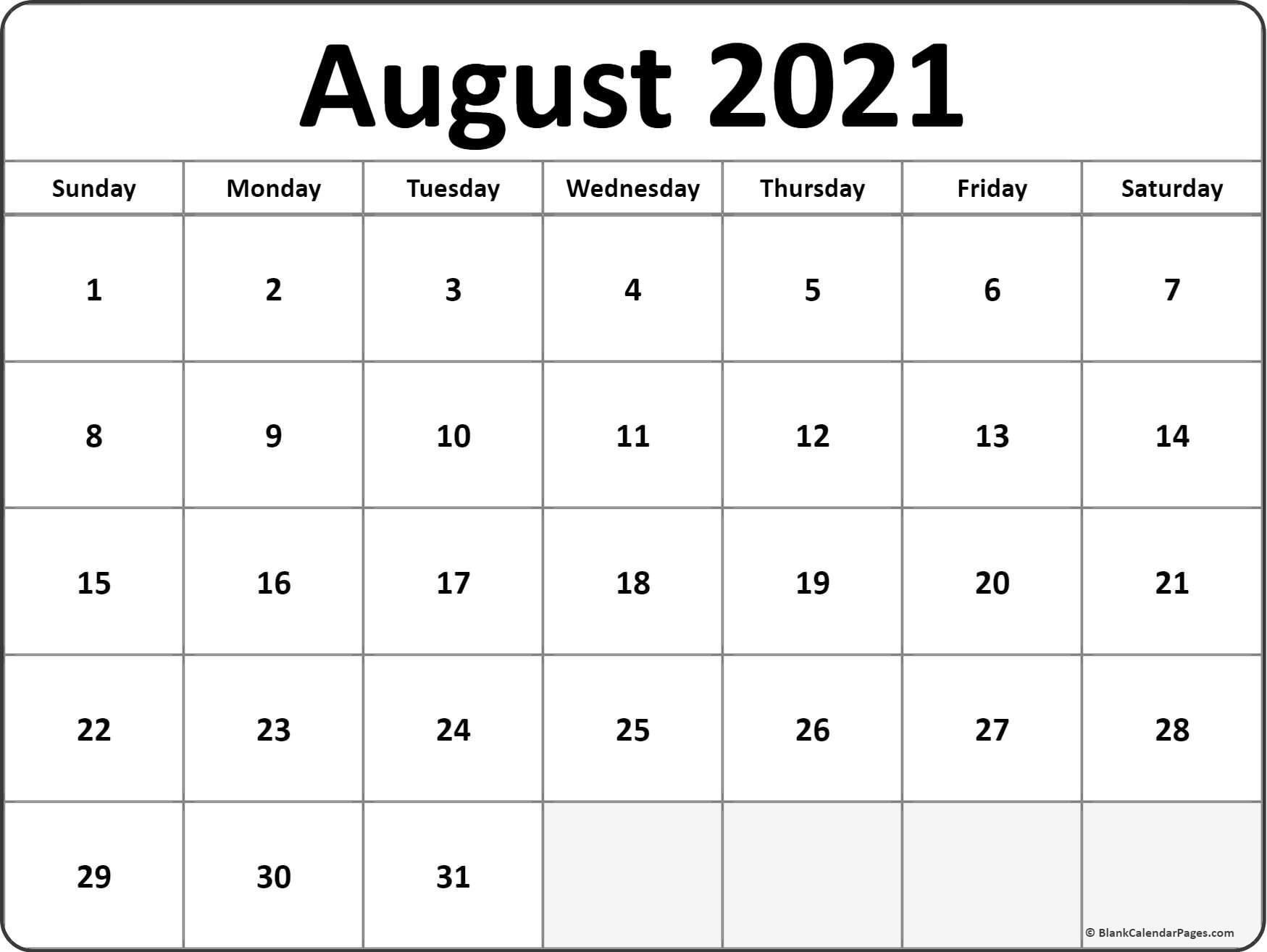 Vertex Montly Calendar October 2021   Calendar Printables within August 2021 Fill In Calendar