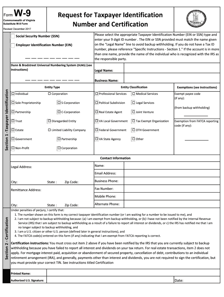 W-9 Form 2020 Printable Pdf - Calendar Printable Free throughout Printable W-9 Form Free