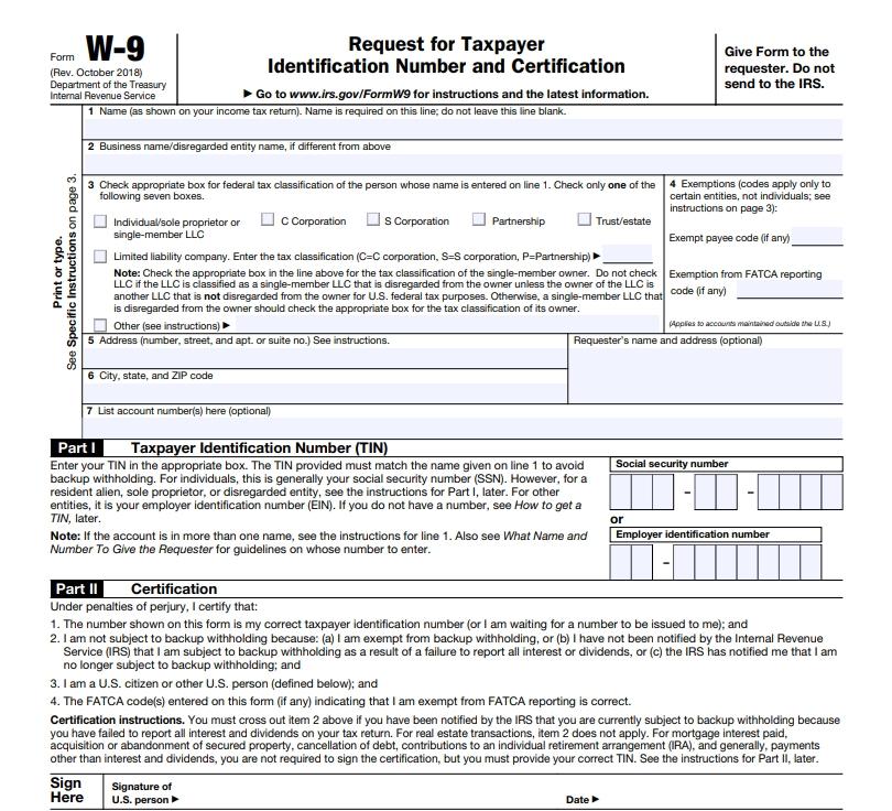 W-9 Form 2021 Printable Pdf | Calendar Template Printable intended for W-9 Form 2021 Printable Pdf