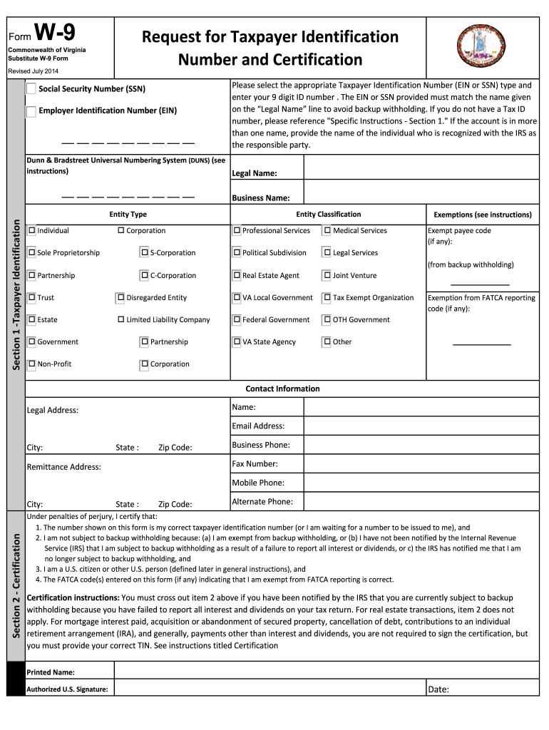 W 9 Form Print 2021 | Example Calendar Printable regarding Blank W-9 2021