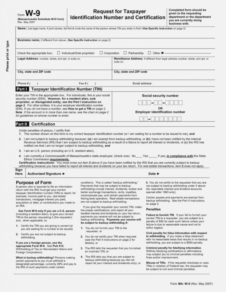 W14 Form Ma 14 Athiy Khudothiharborcity Co Blank W 14 Nj intended for Blank Printable W 9 Form