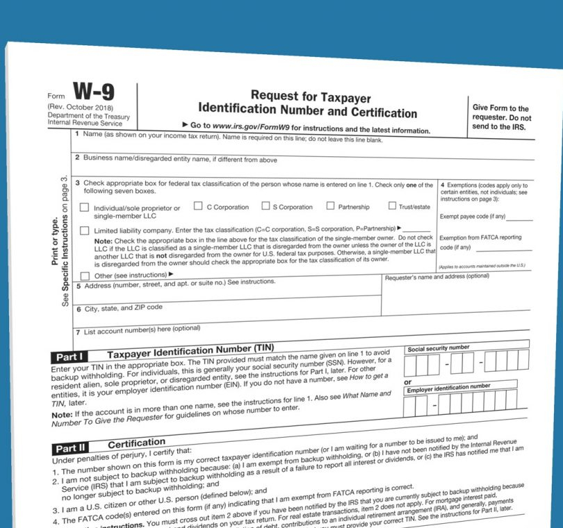 W9Manager | Fill Out 2019 Irs W-9 Form | Use Our Guided throughout Irs Forms W 9