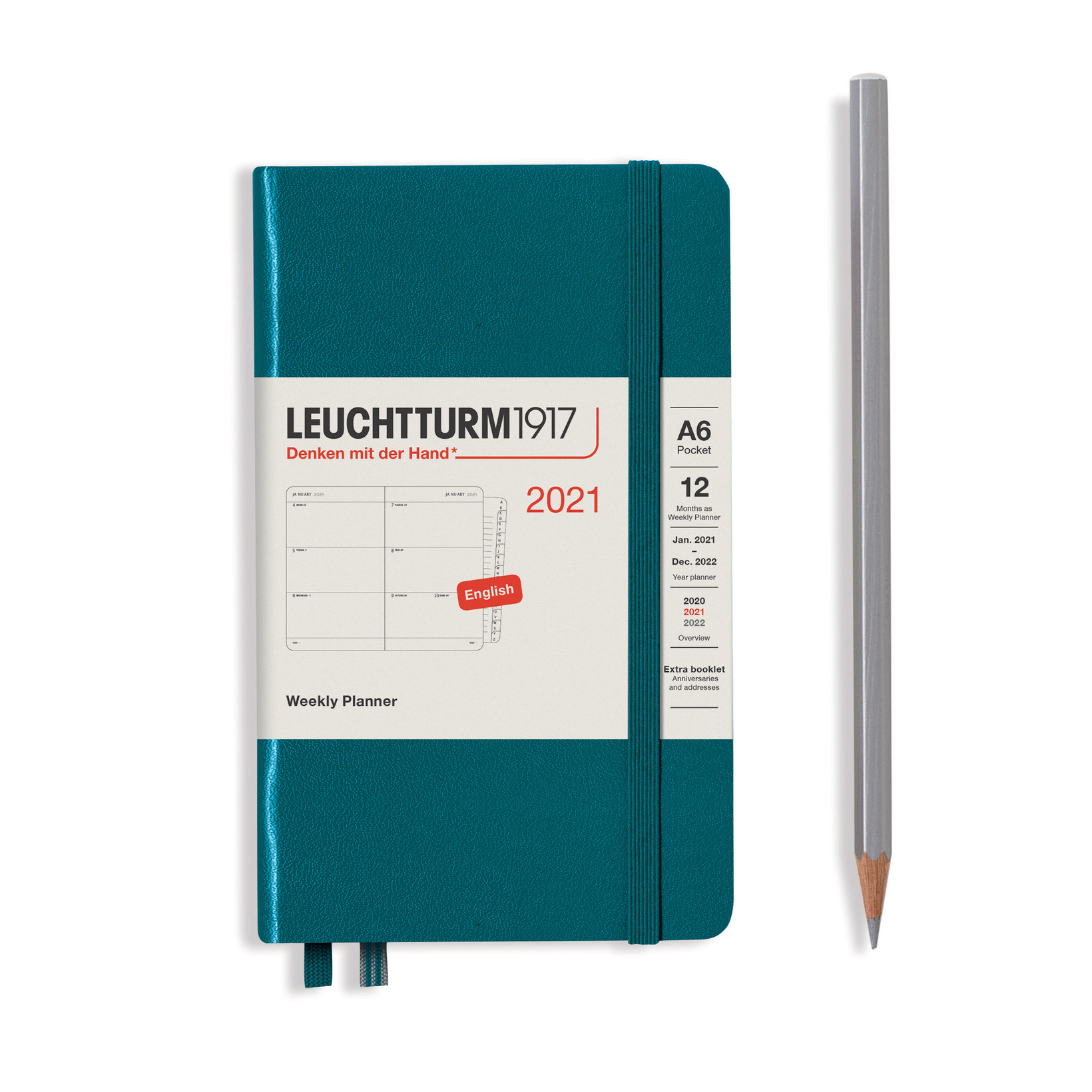 Weekly Planner Pocket (A6) 2021, With Booklet, Pacific pertaining to Monthly Planner 2021 With Pockets