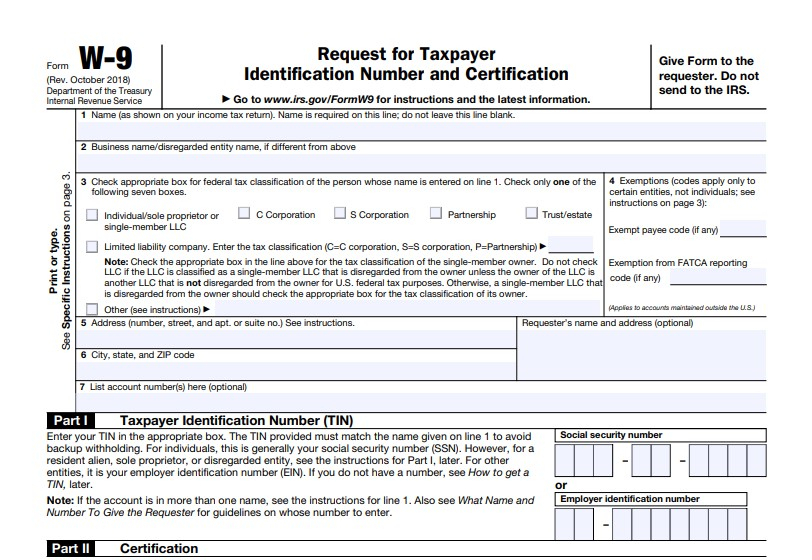What Is A W9 Form 2020? | Free Printable regarding W9 Free Form