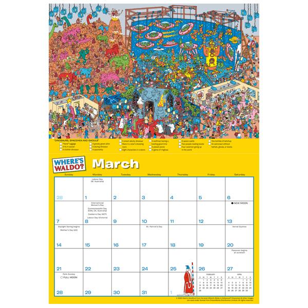 Where'S Waldo® 2021 Wall Calendar - Rsvp for Wizard Calendar 2021