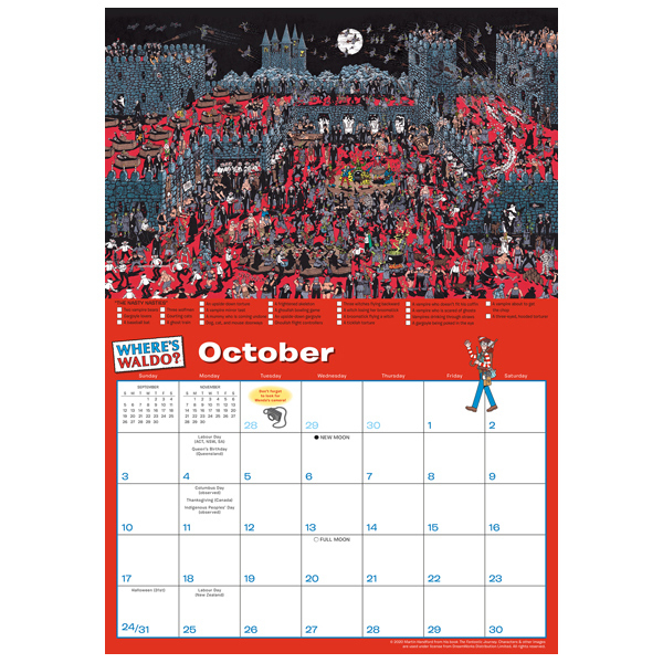 Where'S Waldo® 2021 Wall Calendar - Rsvp inside Wizard Calendar 2021