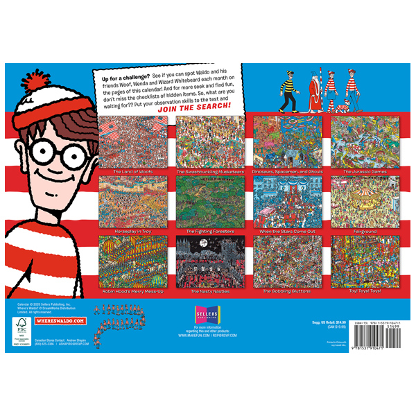 Where'S Waldo® 2021 Wall Calendar - Rsvp intended for Wizard Calendar 2021