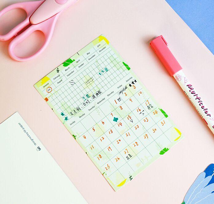 13 Pcs/Pack Creative Floral Pattern Month Planners Sticker regarding Peoria Ill Pcs Calendar Printable