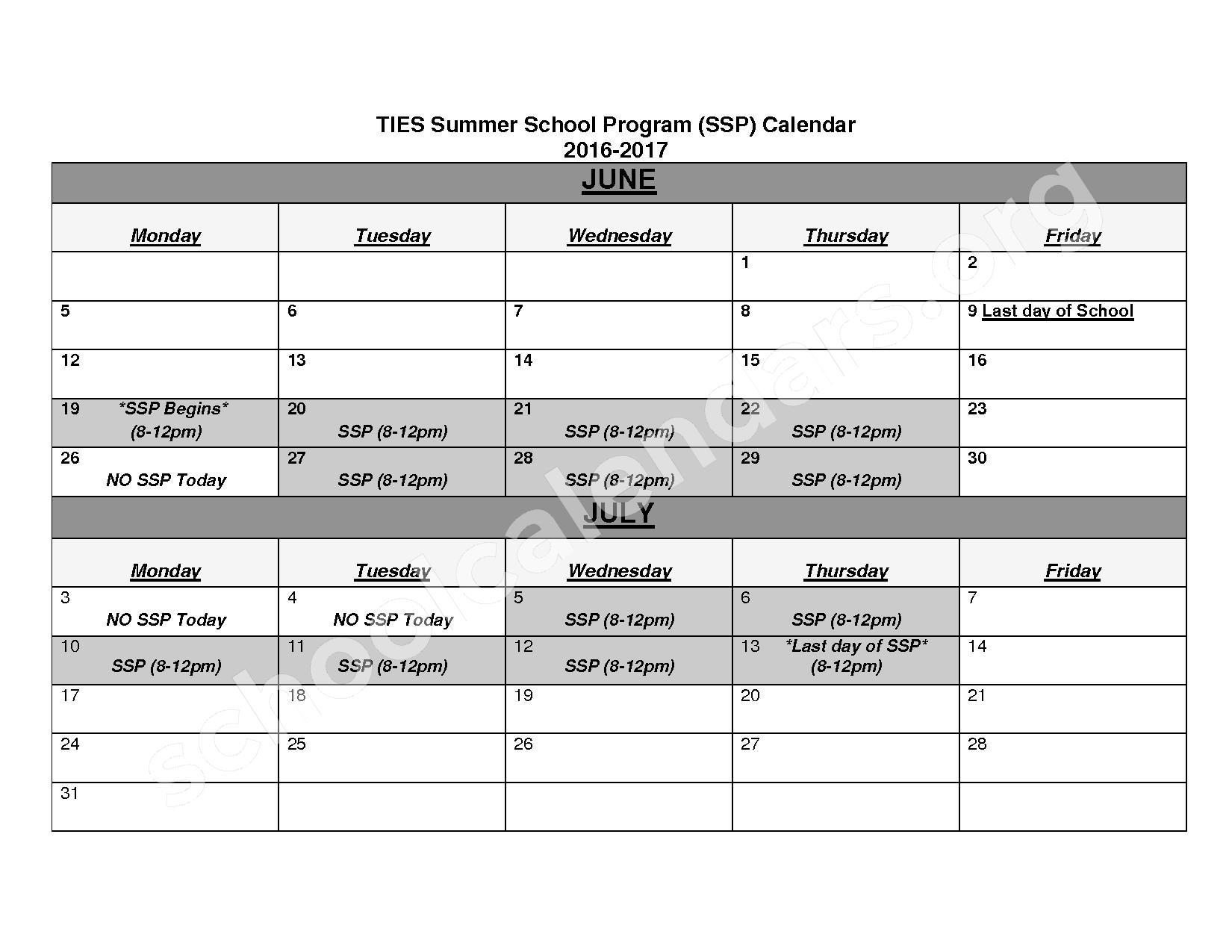 2016 - 2017 School Calendar | Twin Cities International intended for U Of Mn School Calendar Twin Cities