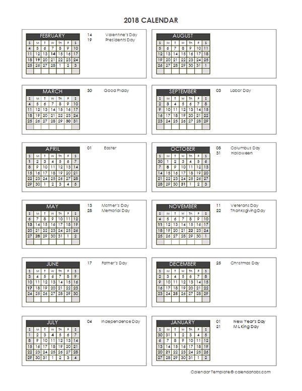 2018 Accounting Close Calendar 4-4-5 - Free Printable within Retsil 4 5 4 Cakander