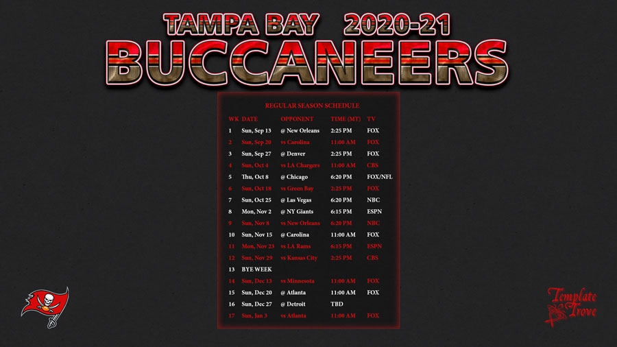 2020-2021 Tampa Bay Buccaneers Wallpaper Schedule with regard to Tampa Bay Downs 2022 Schedule