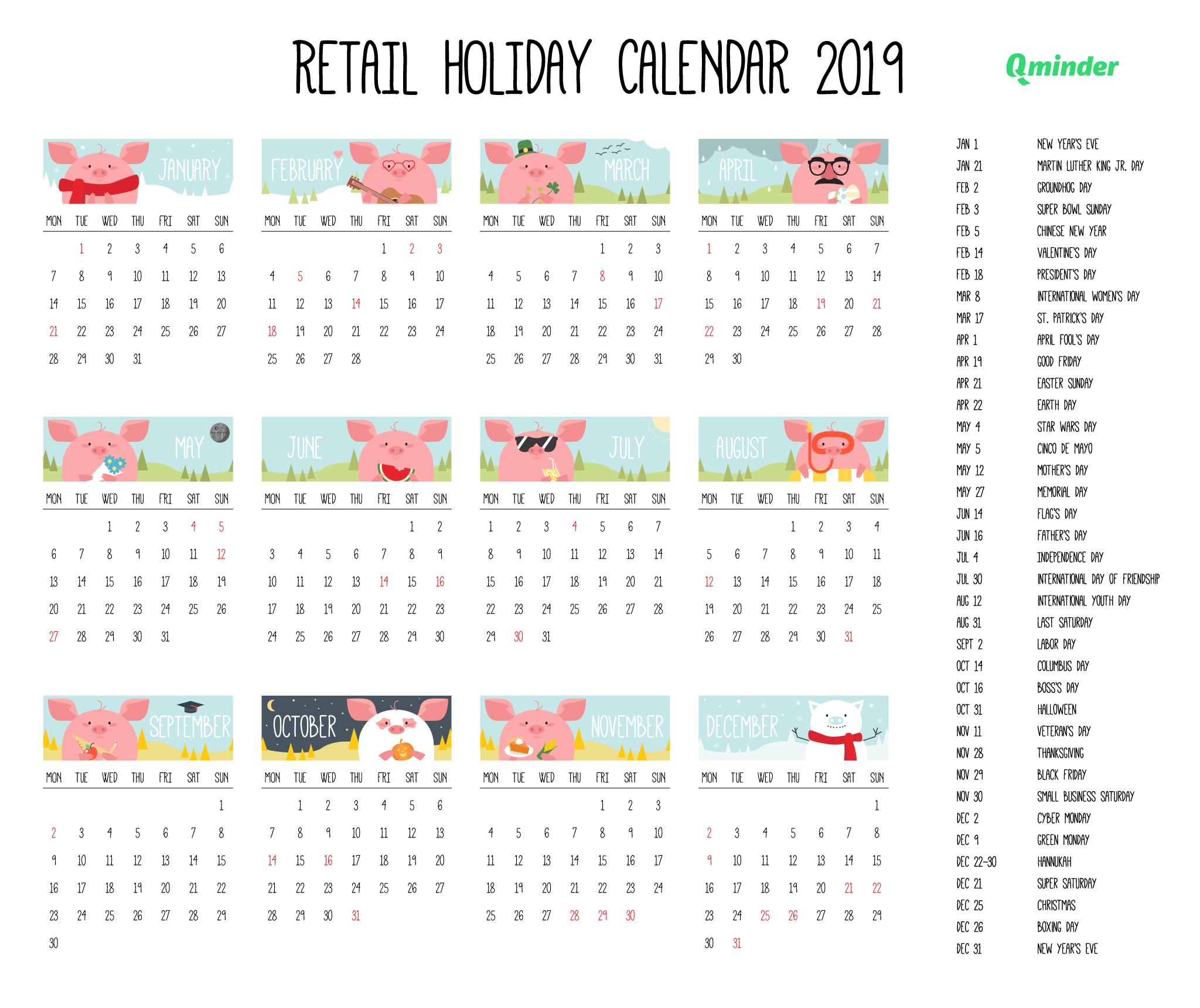 2020 Retail Calendar - Calendar Printable Free in Retsil 4 5 4 Cakander