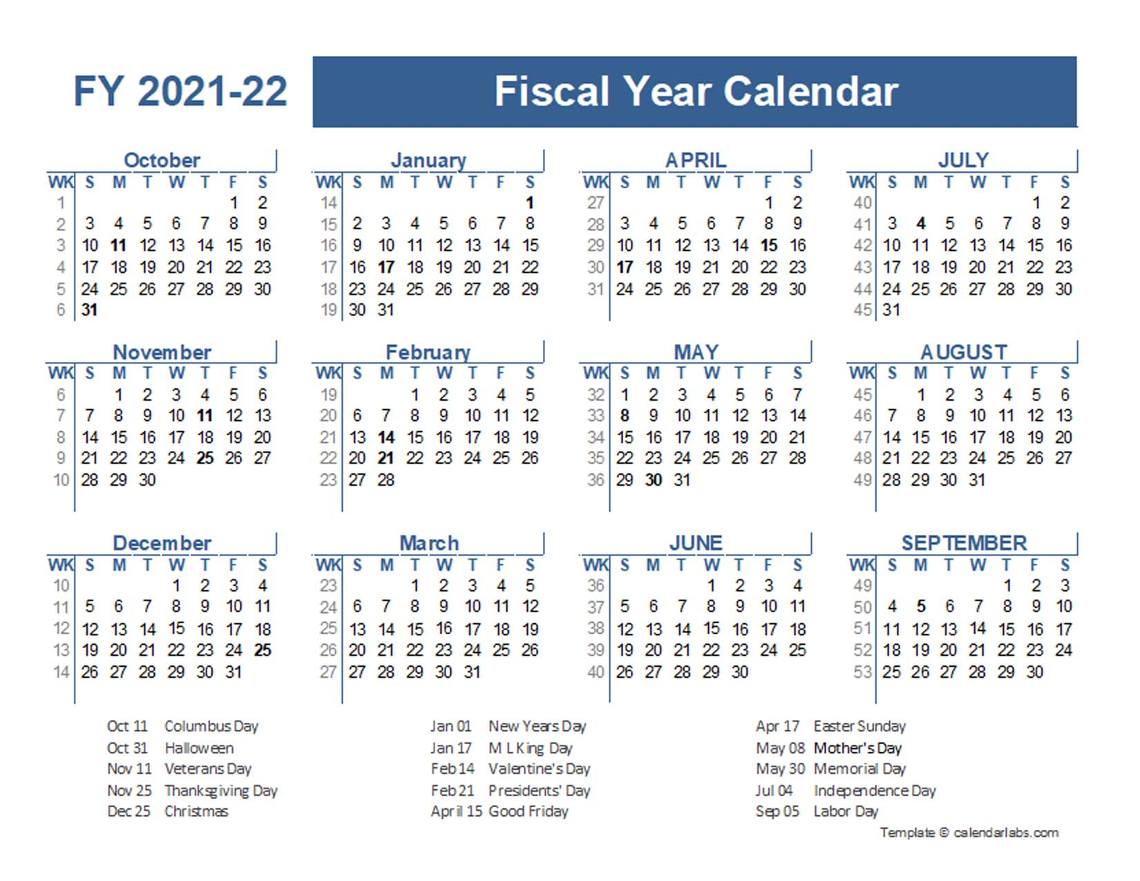 2021-2022 Fiscal Planner Us - Free Printable Templates throughout Yearly Julian Calendar 2022