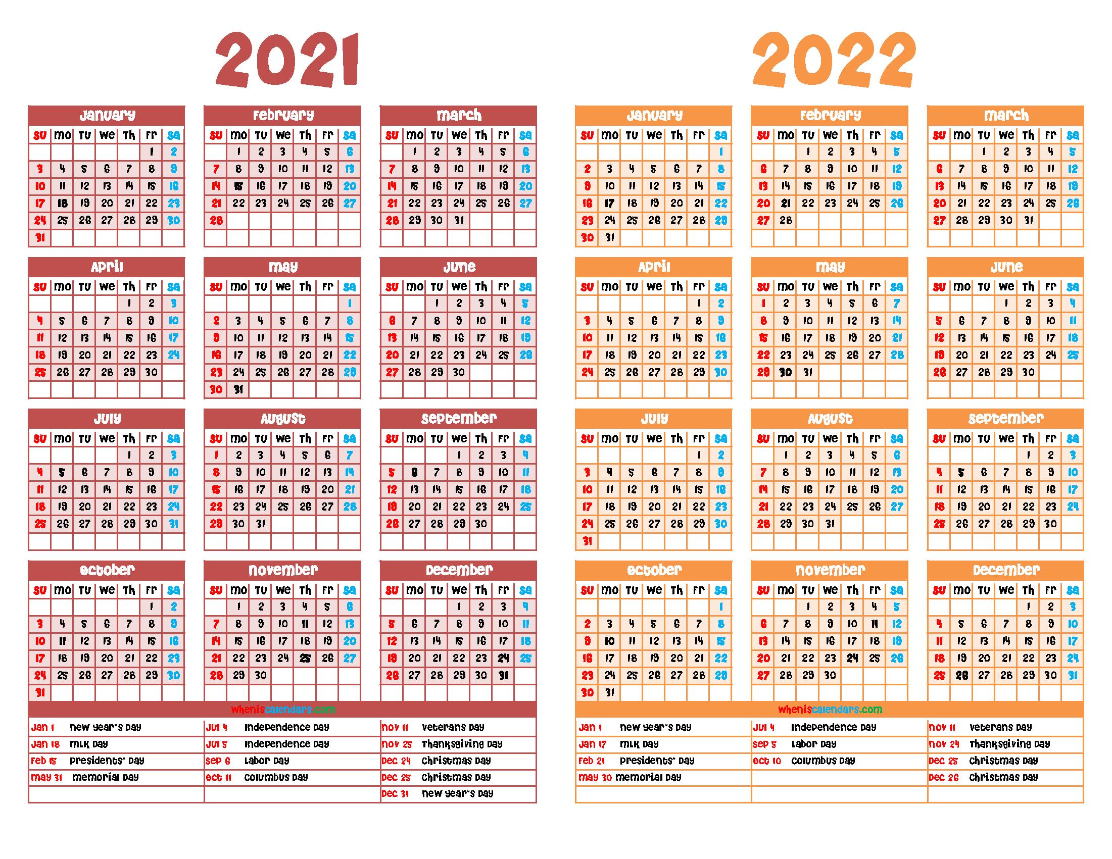 2021 And 2022 Calendar Printable Free within Alternate Side 2022 Calendar