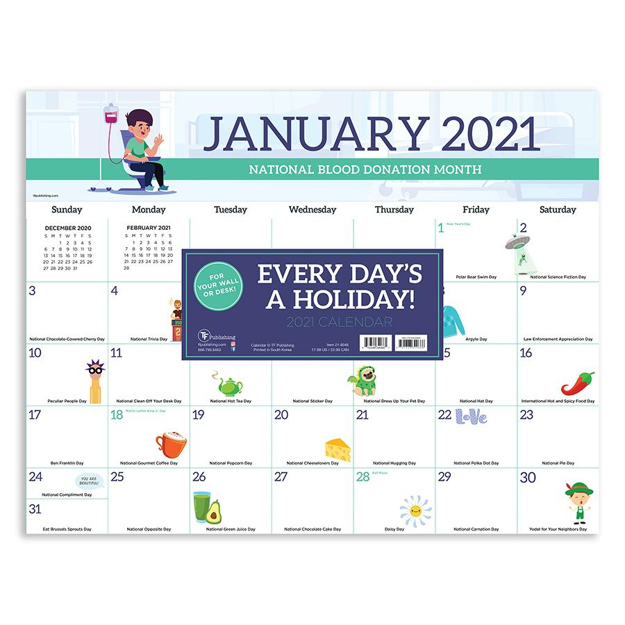 """2021 Every Day'S A Holiday 17""""X22"""" Desk Pad Monthly with regard to Every Day Holiday Calendar"""