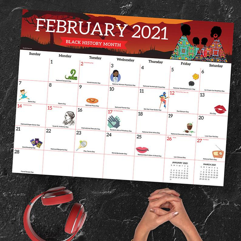 2021 Every Day'S A Holiday Large Desk Pad Monthly Calendar in Every Day Holiday Calendar