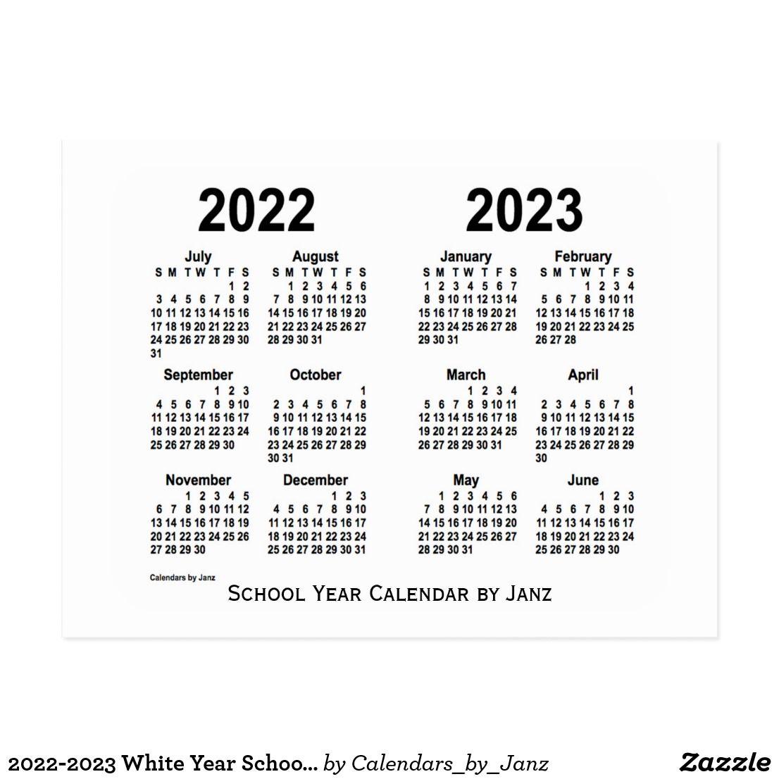 2022-2023 White Year School Calendarjanz Postcard in Aiken County 2022 2023 School Calendar