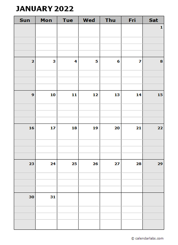 2022 Blank Daily Planner - Free Printable Templates with regard to Alternate Side 2022 Calendar