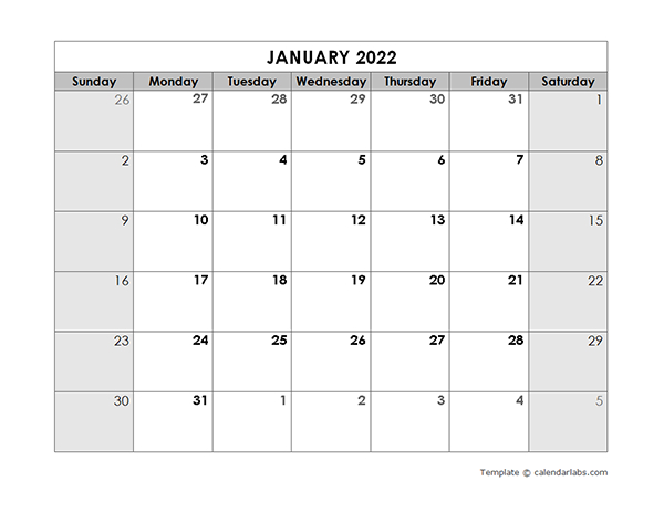 2022 Blank Monthly Calendar - Free Printable Templates within 2022 Printable Julian Date Calendar