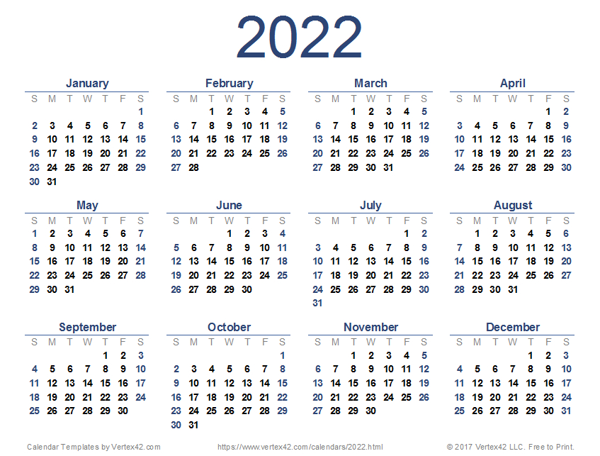 2022 Calendar Templates And Images within Walmart Fiscal Calendar For 2022
