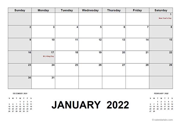 2022 Calendar With Holidays Pdf - Free Printable Templates pertaining to 2022 Printable Julian Date Calendar