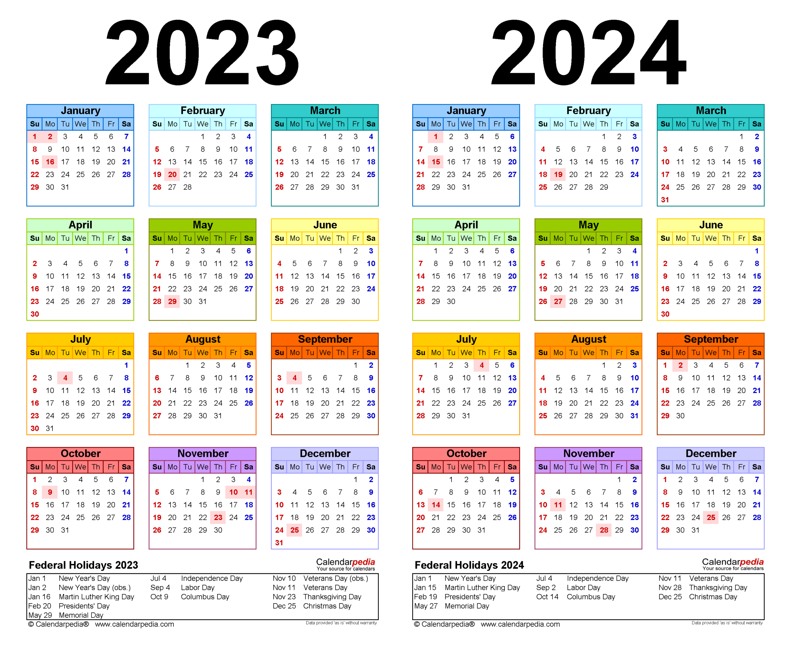 2023-2024 Two Year Calendar - Free Printable Microsoft for 2022 2023 School Calendar North Penn