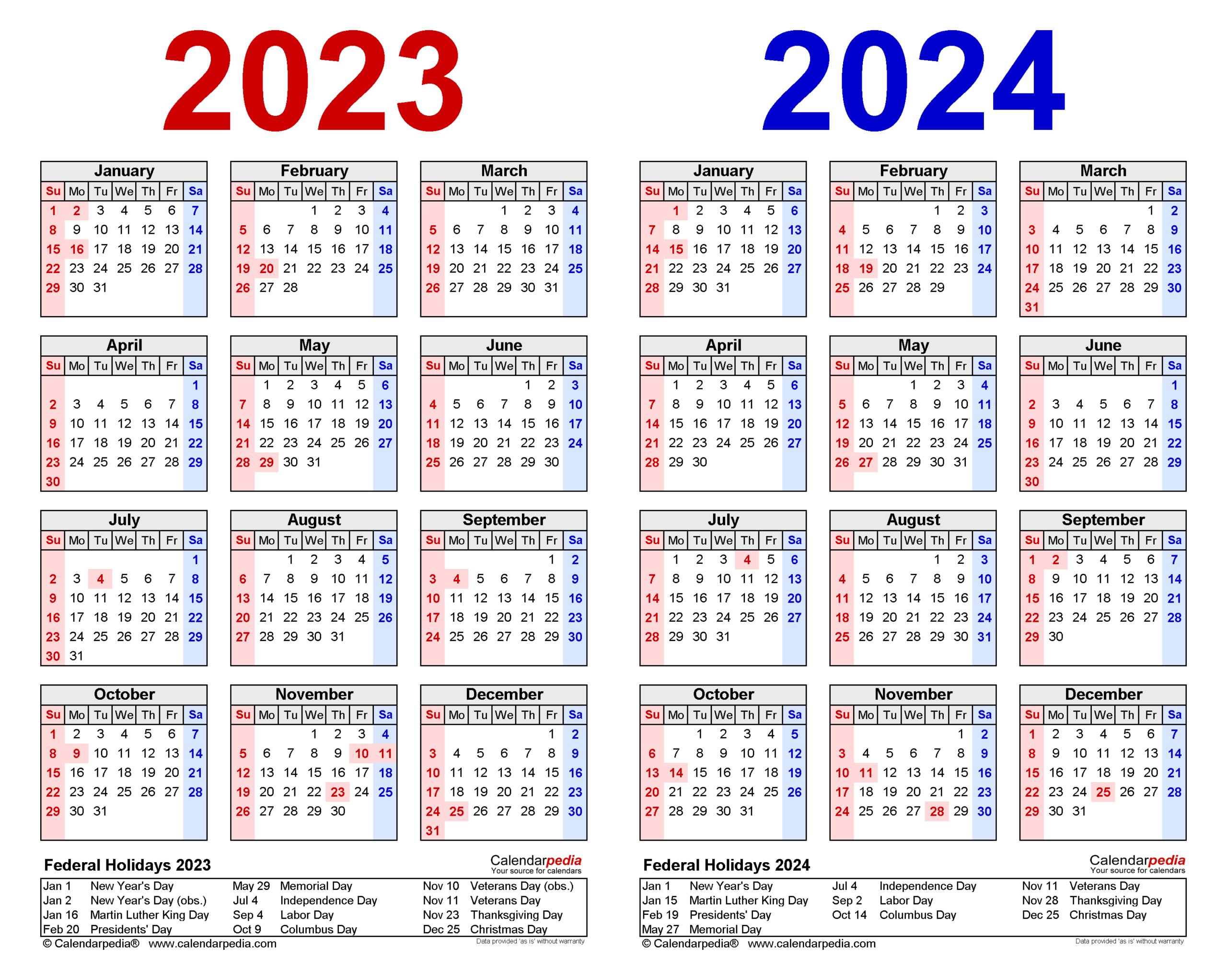 2023-2024 Two Year Calendar - Free Printable Pdf Templates within Aiken County 2022 2023 School Calendar