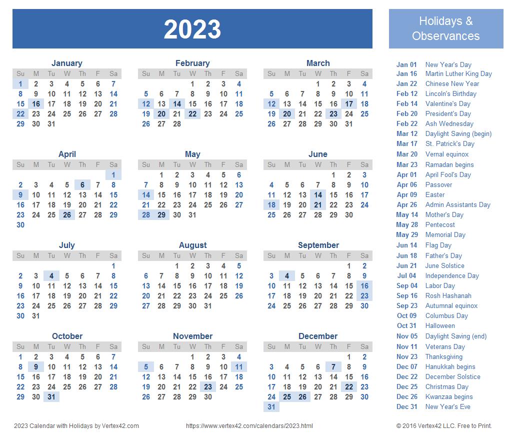 2023 Calendar Templates And Images for 2022 2023 School Calendar North Penn