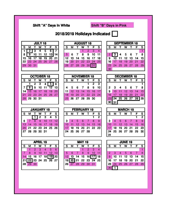 3 Shift Calendar 2019 :-Free Calendar Template in 2022 Hfd Shift Calendar