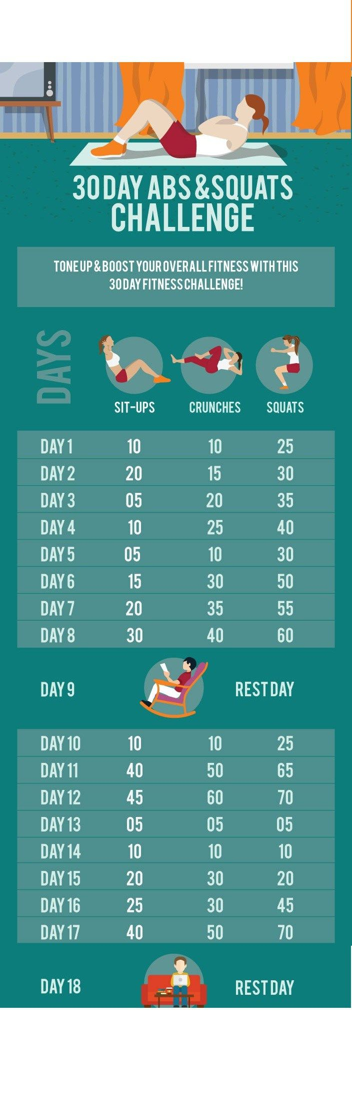 30-Day-Abs-And-Squats-Challenge-20150422-033252 | Squat throughout 30 Day Leg Challenge Printable Pdf