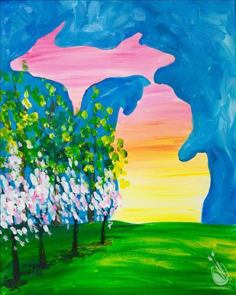 A Michigan Spring! - Wednesday, April 11, 2018 - Painting within Painting With A Twist Calnder