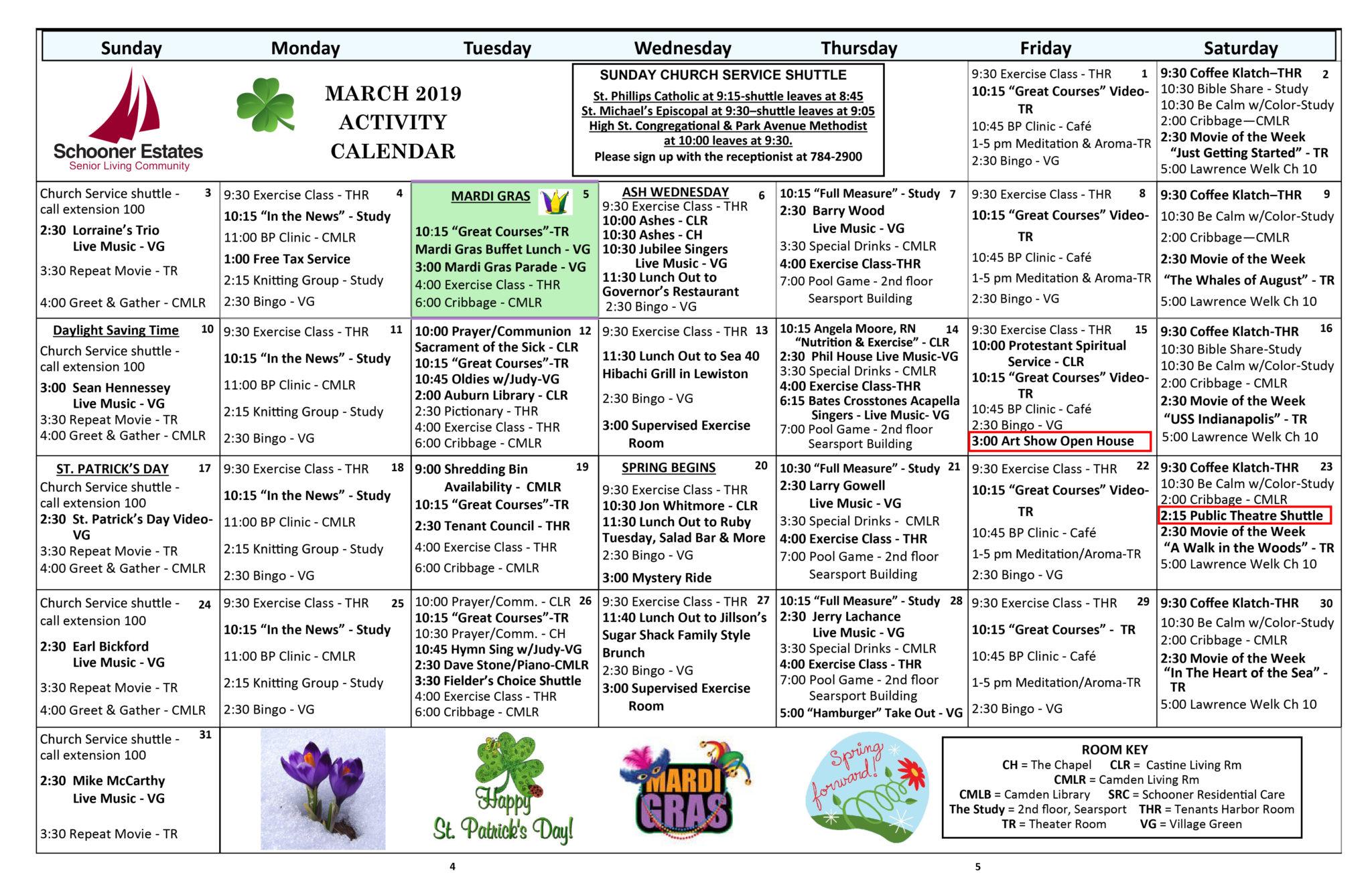 Activity Calendar For Assisted Living | Printable Calendar throughout Track 4 Calendar Wake County