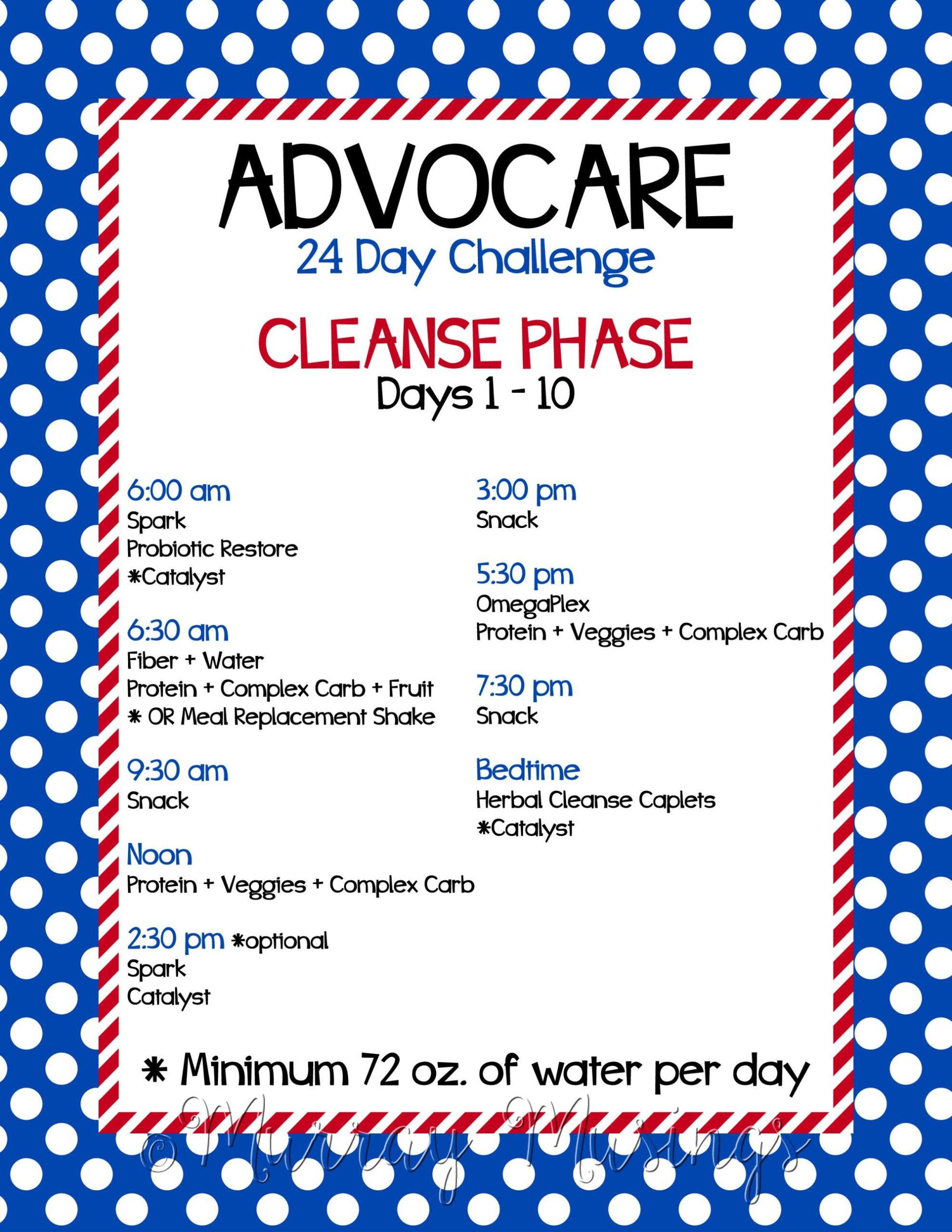 Advocare 24 Day Challenge Calendar | Printable Calendar with Track 4 Calendar Wake County