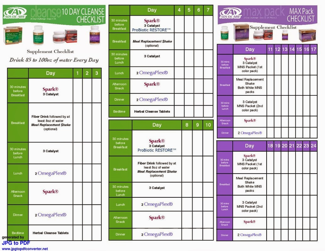 Advocare 24 Day Challenge With Daily Guide Images - Frompo in Advocare 24 Day Challenge Booklet