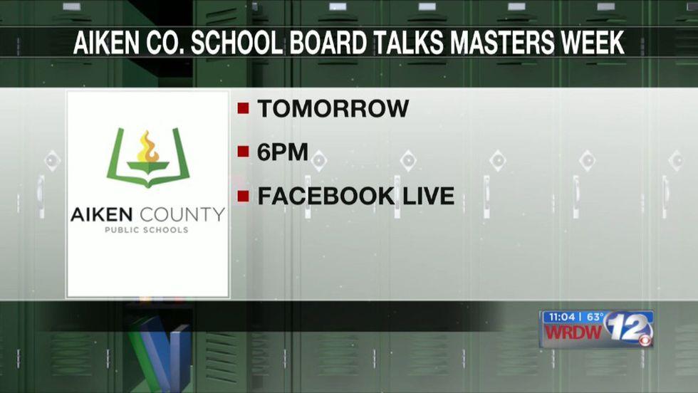 Aiken County School Board To Discuss Masters Week In Next within Aiken County School Calendar