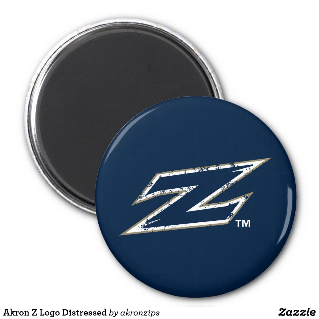 Akron Z Logo Distressed Magnet | Zazzle | Akron Zips in Univ Of Akron Holidays