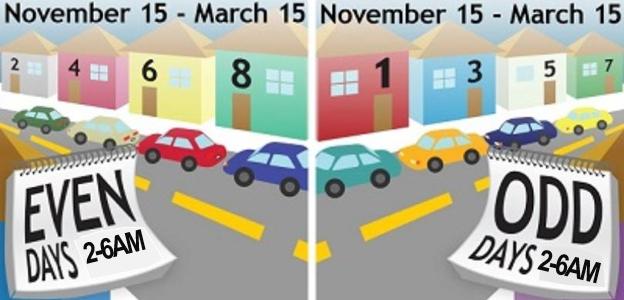 Alternate Side Parking Begins November 15 - Village Of regarding 2022 Alternate Side Parking Calendar