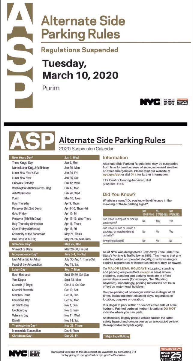 Alternate Side Parking Calendar Nyc Today - Pdfshare intended for Alternate Side 2022 Calendar