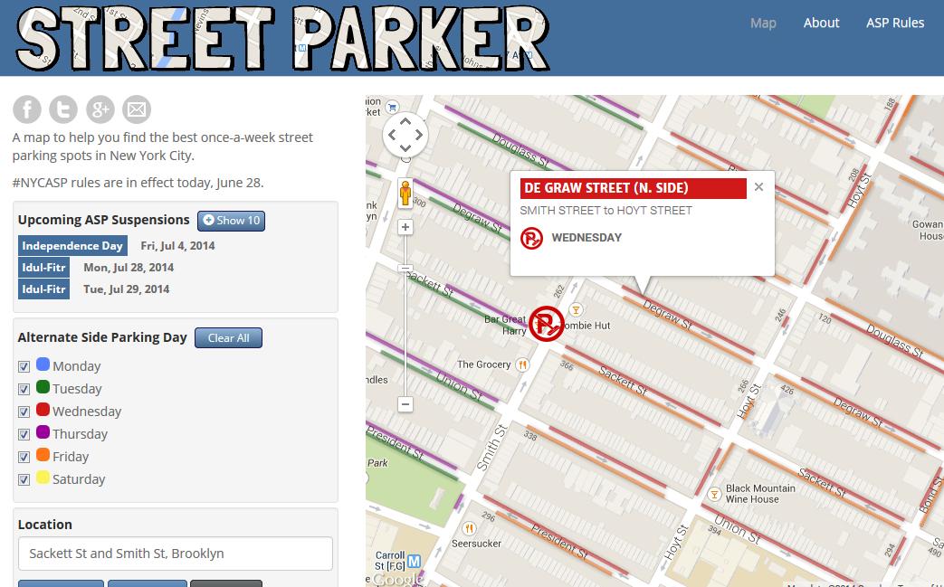 Alternate Side Parking Map Brooklyn in Altermate Side Parking Regulation Suspension Calender For 2022