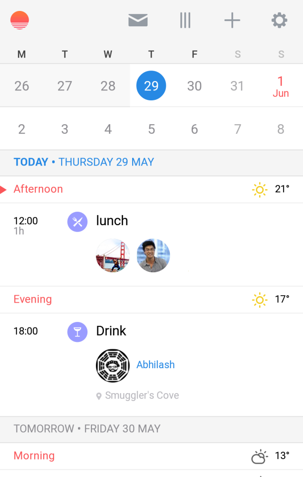 Android Niceties — Sunrise Calendar   Google Play Link within Sunrise Sunset Times Add To Google Calendar