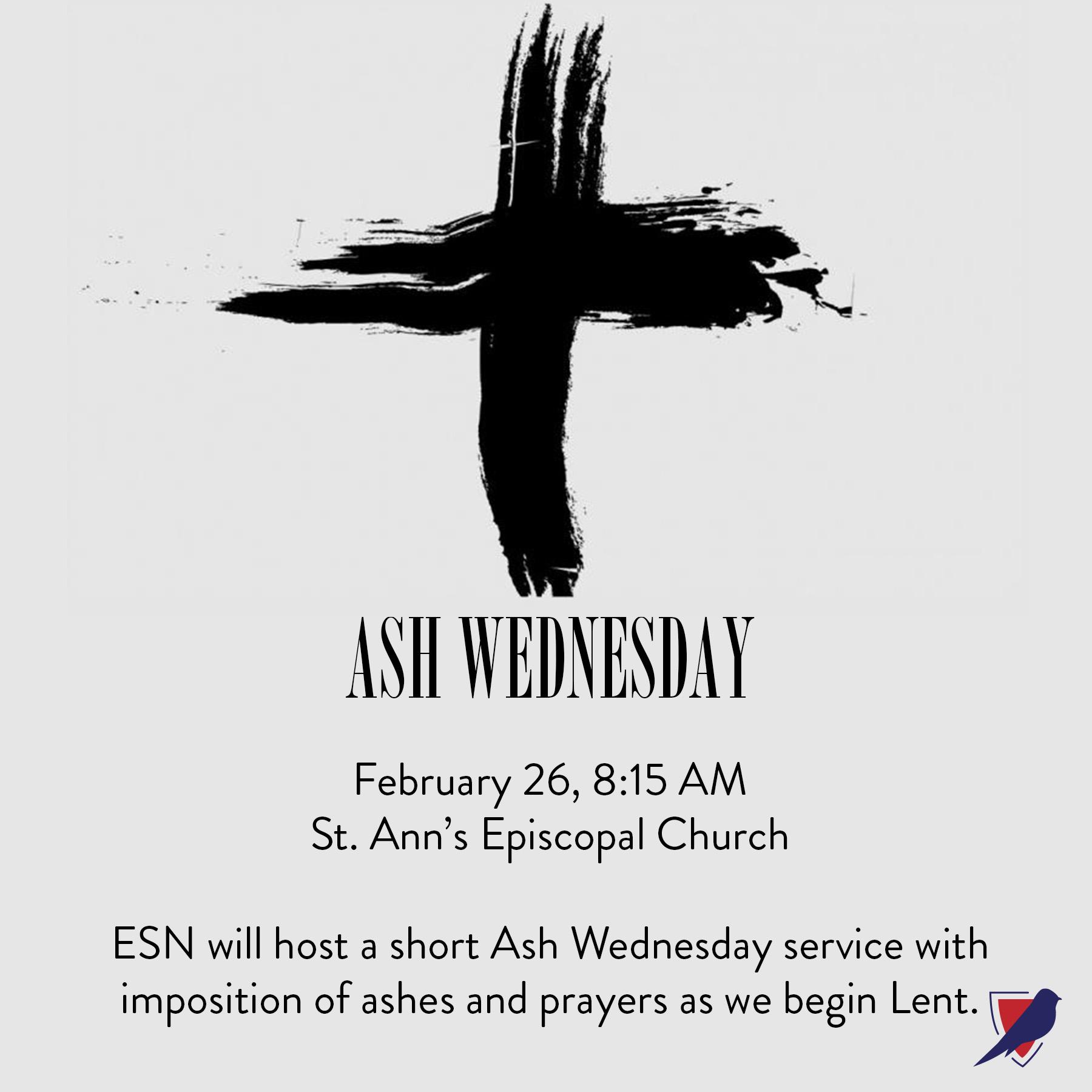 Ash Wednesday Service - Episcopal School Of Nashville throughout Metro Nashville Pulic Schools Calendar Printable One Page