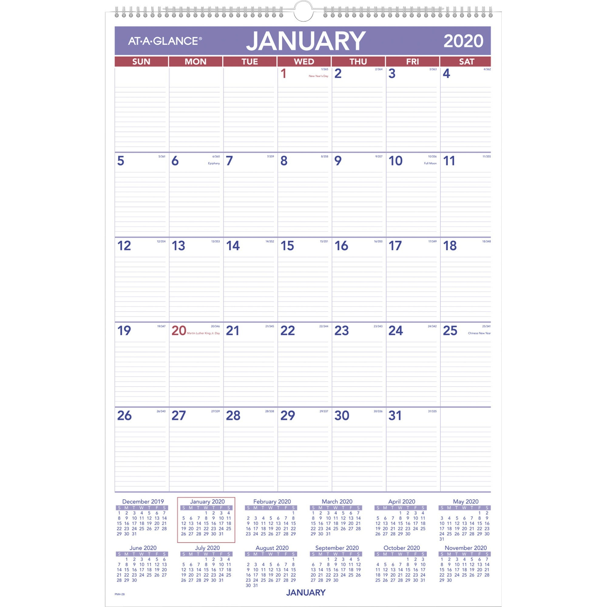 At-A-Glance Dayminder Monthly Planner - Julian Dates within January 2022 Calendar With Julian Dates