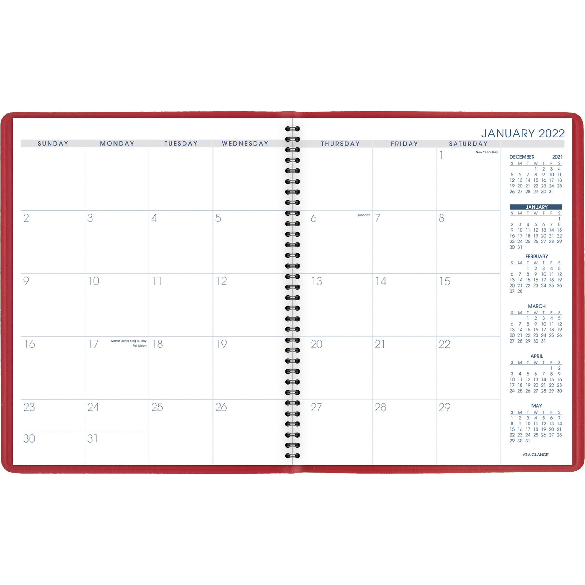 At-A-Glance Fashion Color Monthly Planner - Julian Dates with Yearly Julian Calendar 2022