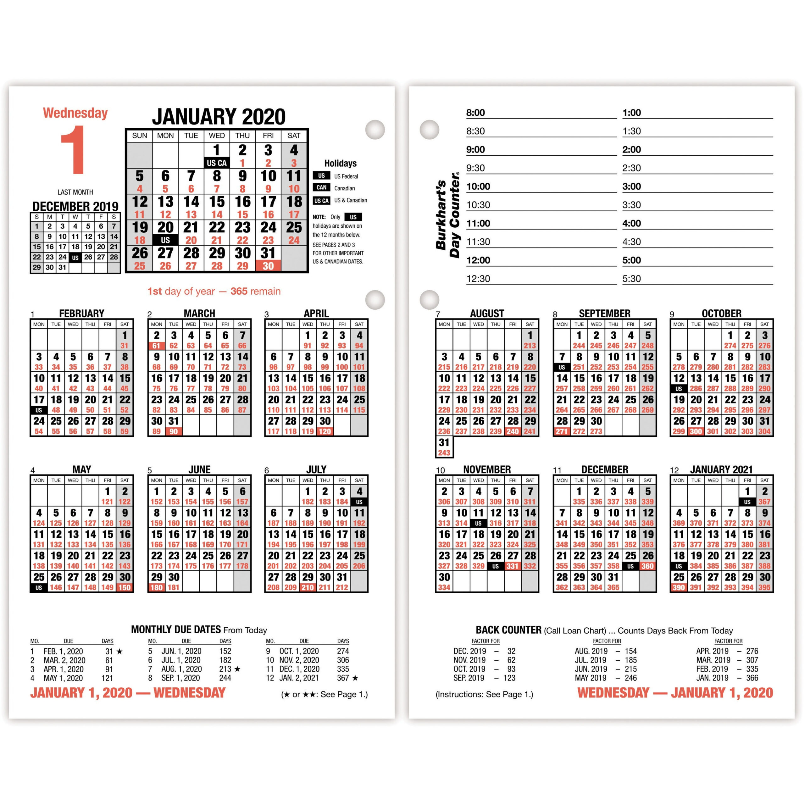 At-A-Glance Today Is Wall Calendar - Julian Dates - Daily throughout January 2022 Calendar With Julian Dates