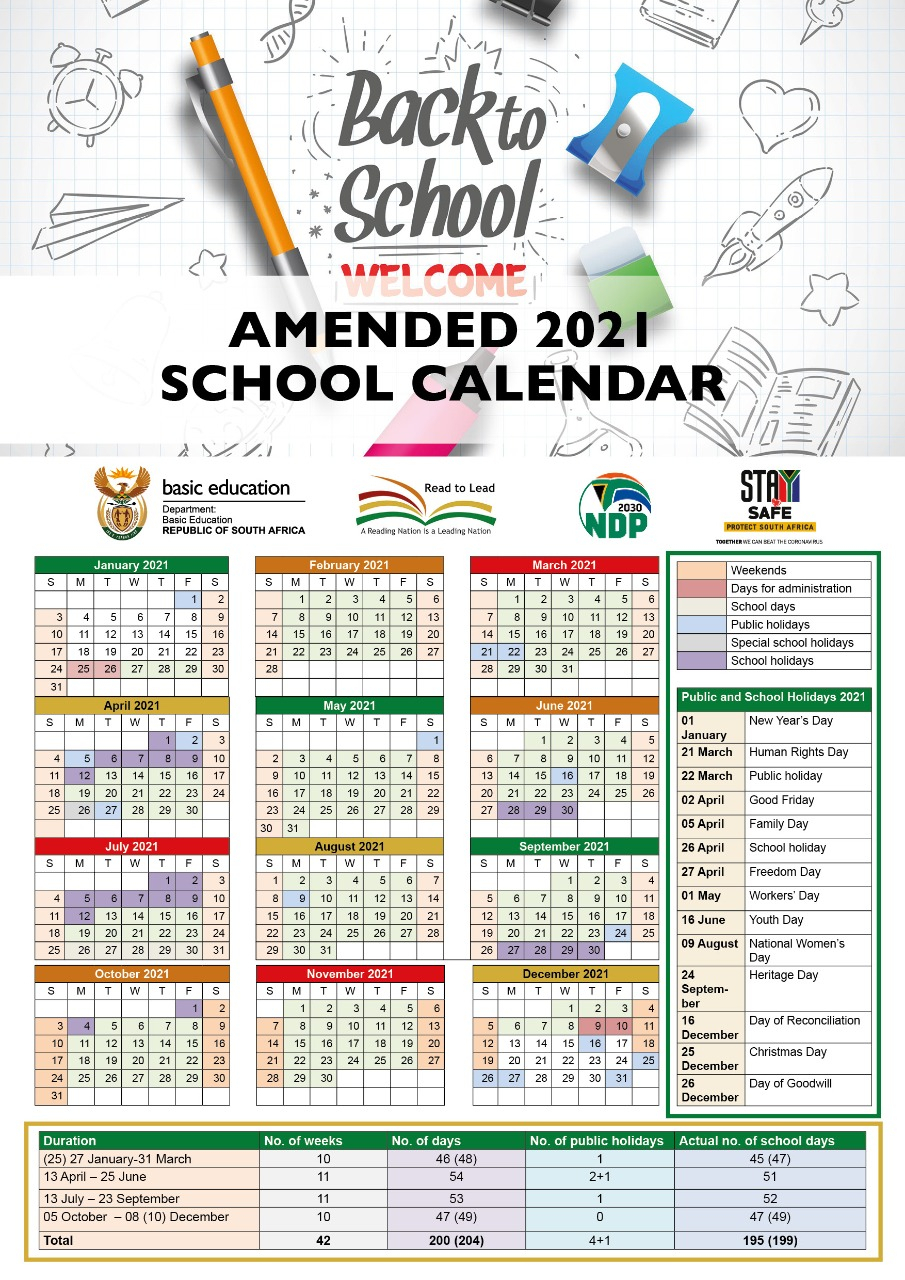 Basic Education Publishes 2021 Calendar - Page3 Online News with Calendar Department Of Education