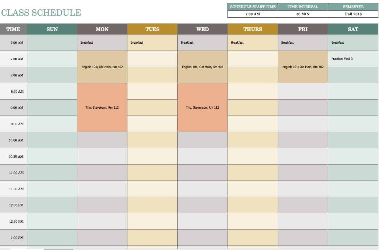Blank Weekly Am/Pm Schedule Template   Free Calendar for Formate Excell To Calendar