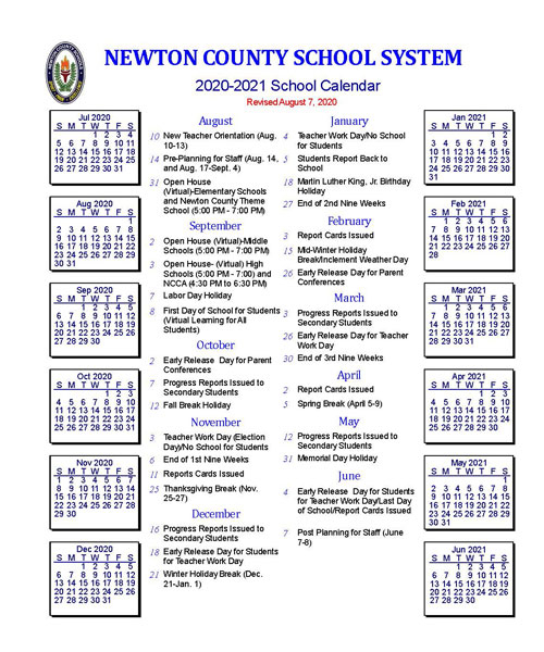 Boe Adopts Revised Calendar - Newton County Schools for Nyc Board Of Education Calendar 2022