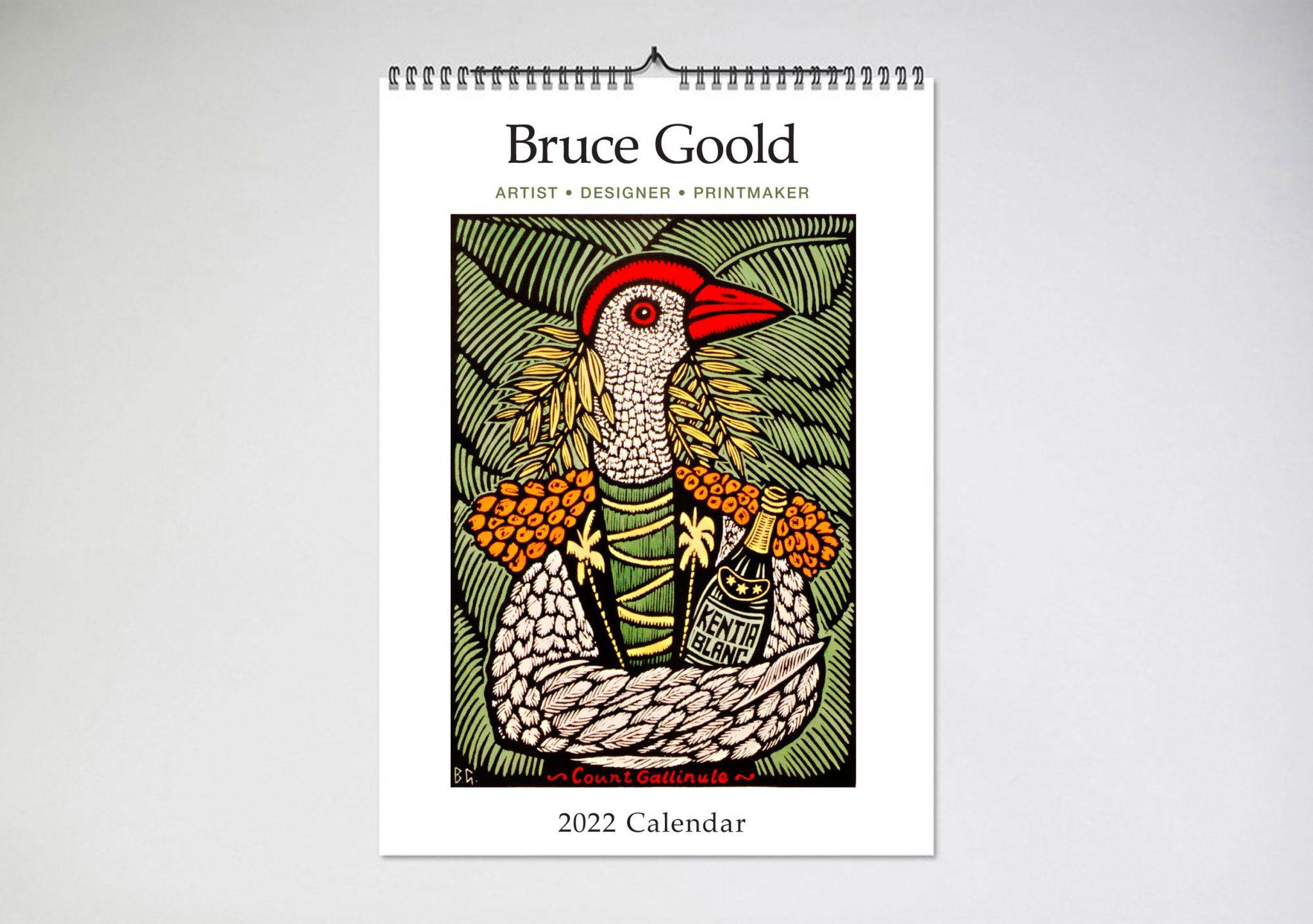 Bruce Goold 2022 Wall Calendar - Blue Island Press for Retail Calendar 2022 4-5-4 Explained