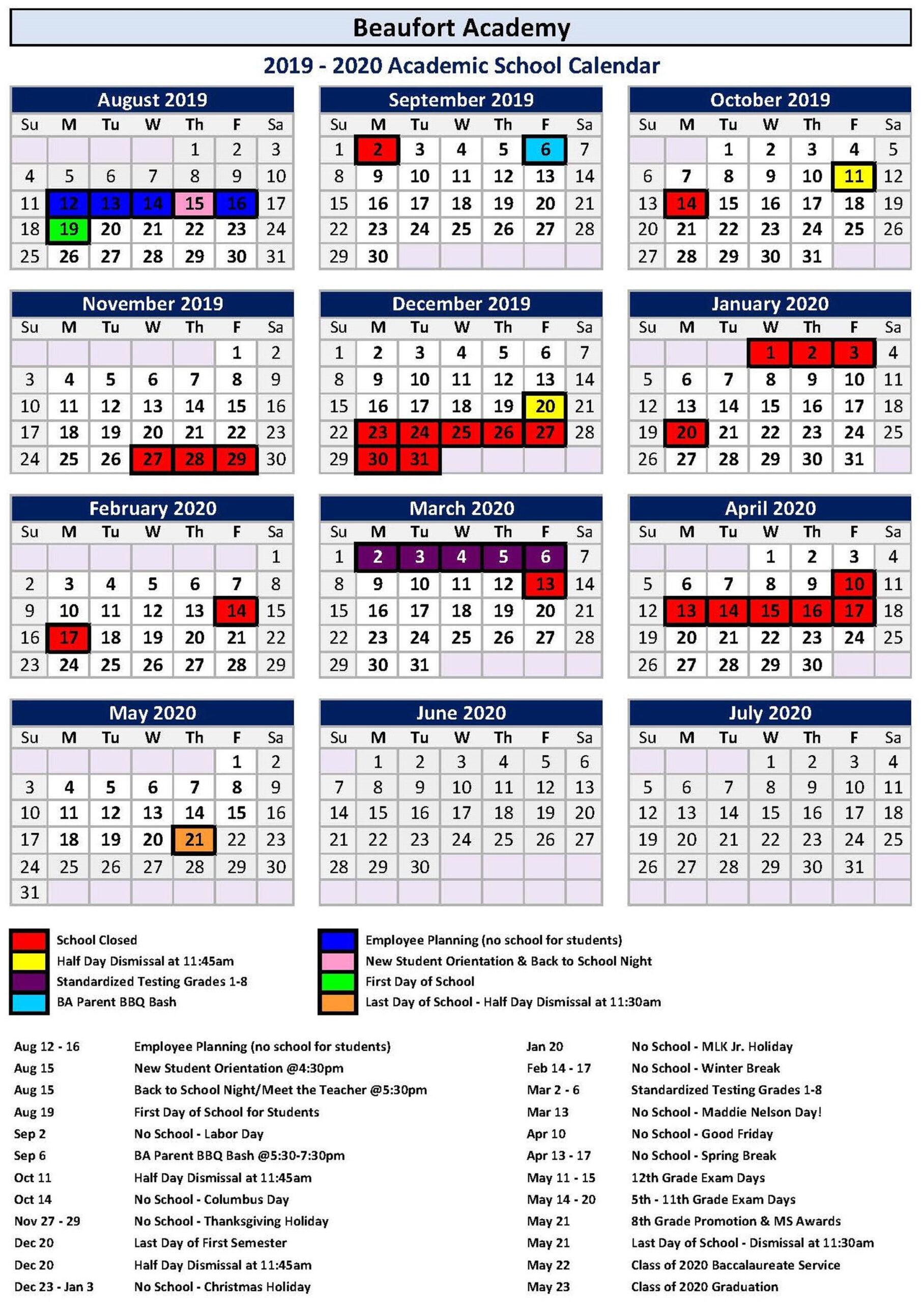 Calendar 2021 For Hilton Head Sc   Printable Calendar 2020 with Fort Worth Isd Employee Calendar
